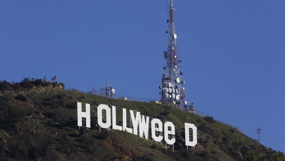 Veränderter Hollywood-Schriftzug
