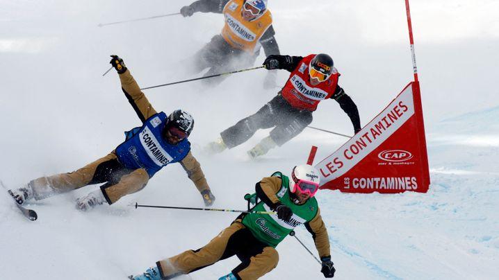 Skicross: Mann gegen Mann am Limit