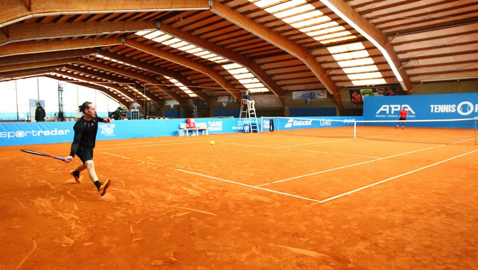 Die große Leere beim Tennisturnier in Höhr-Grenzhausen