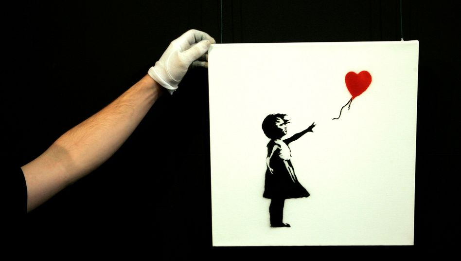 """Girl with Balloon"" von Banksy (Archivbild)"