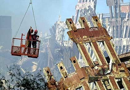 World Trade Center: Aufräumarbeiten nach den Anschlägen vom 11. September