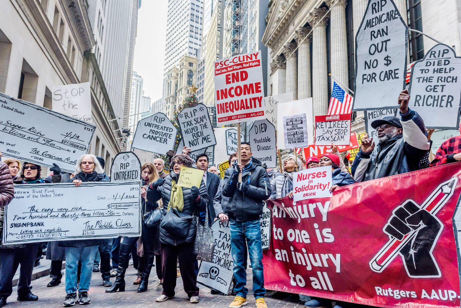 EINMALIGE VERWENDUNG Steuerreform/ Usa/ Protest