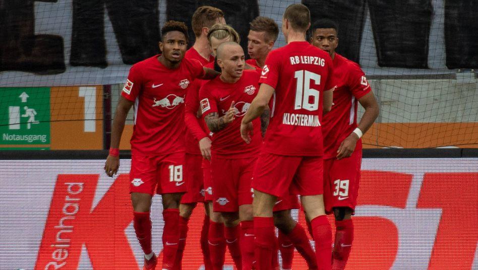 Leipziger Jubel gegen Augsburg