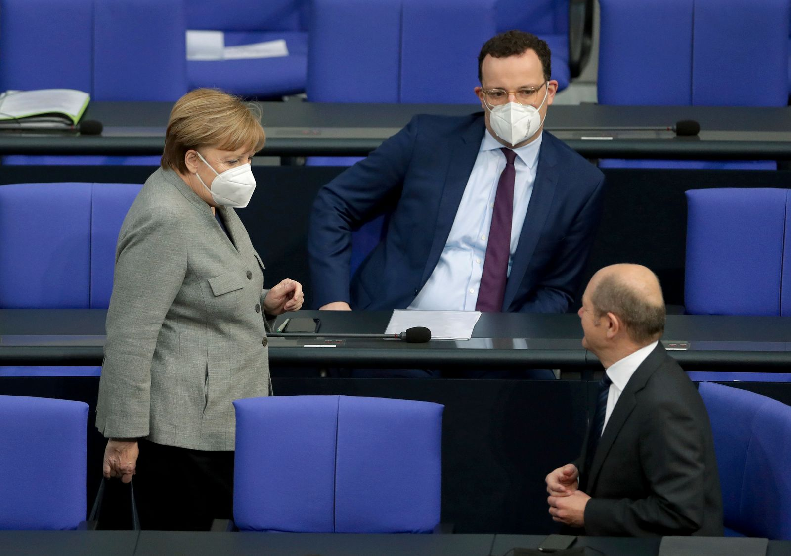 Virus Outbreak Germany Parliament