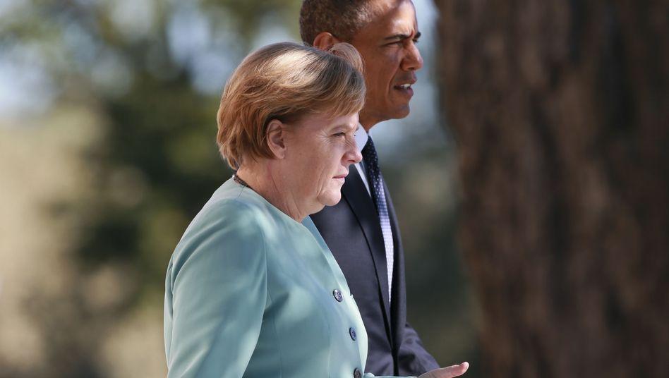 Kanzlerin Merkel, US-Präsident Obama: Letzte Hoffnung Vier-Augen-Gespräch