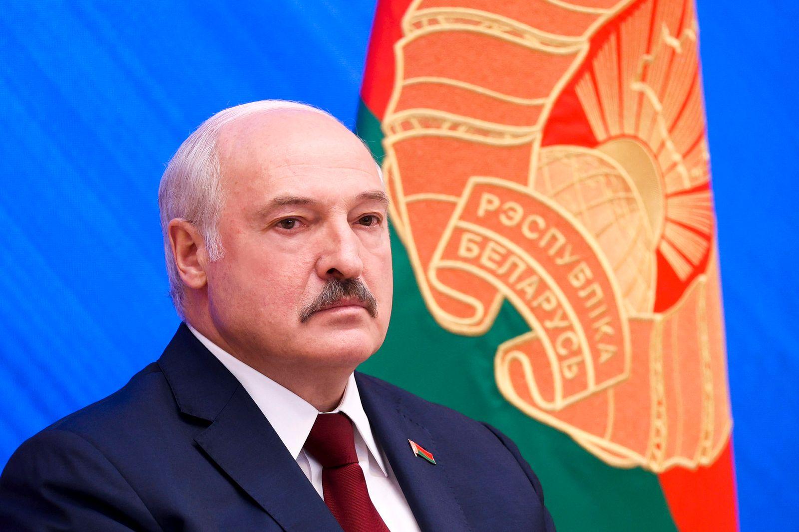 Ein Jahr Proteste inBelarus - Pressekonferenz Lukaschenko
