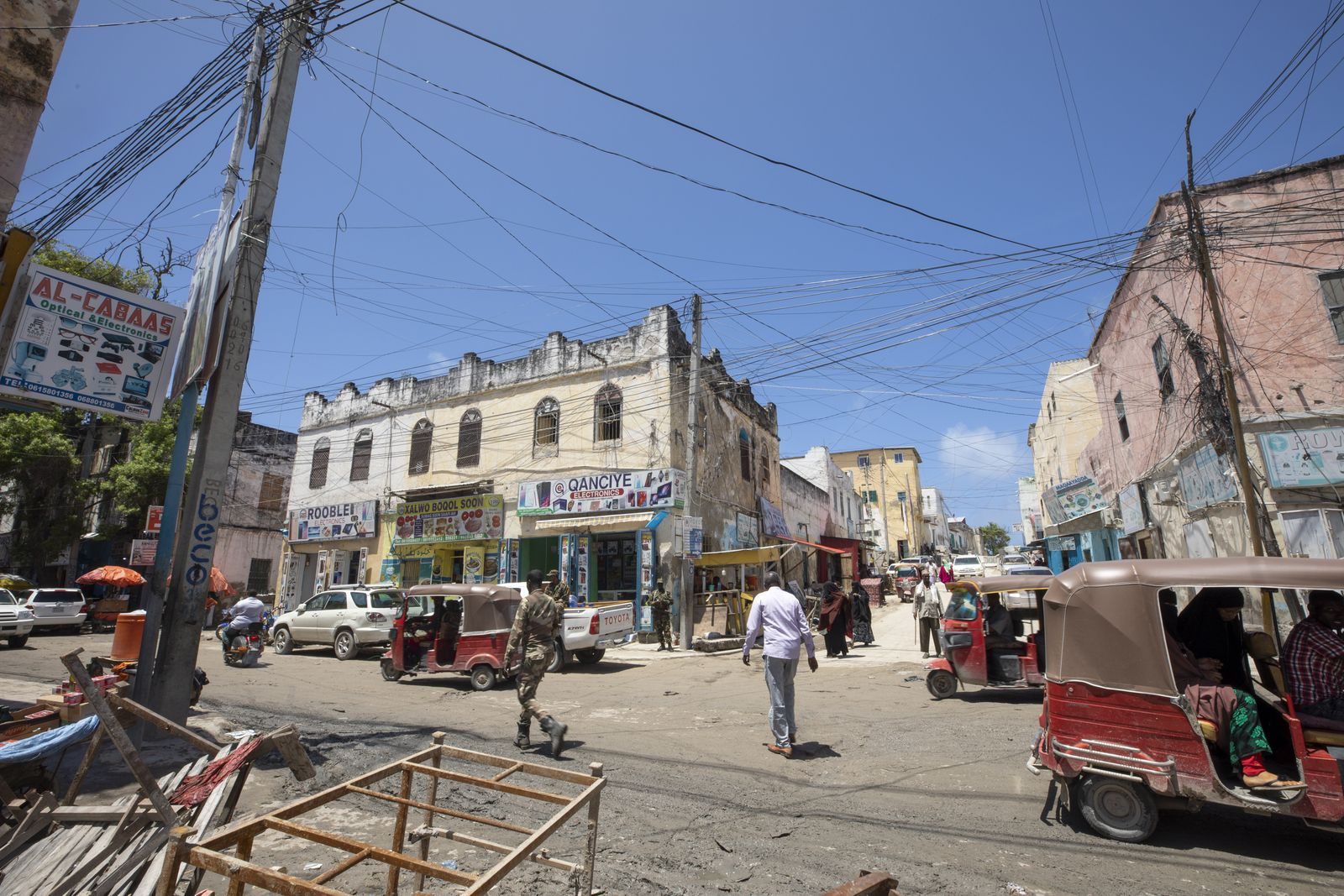 Commercial life in Somalia's Mogadishu