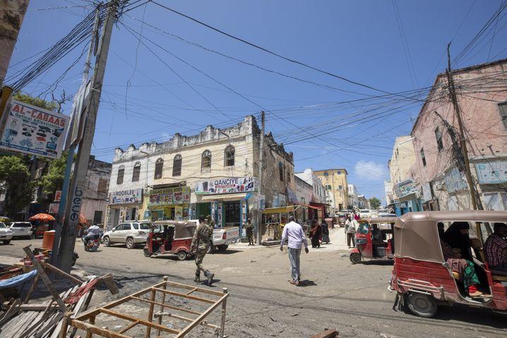 Straßenszene aus Mogadischu, August 2020