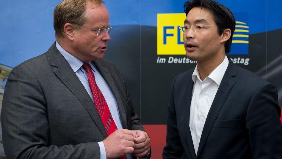Liberale Minister Niebel, Rösler: KfW-Kampagne sollte die FDP-Politiker glänzen lassen