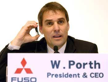 Fuso-Chef Wilfried Porth: Demnächst könnte DaimlerChrysler die Mehrheit halten