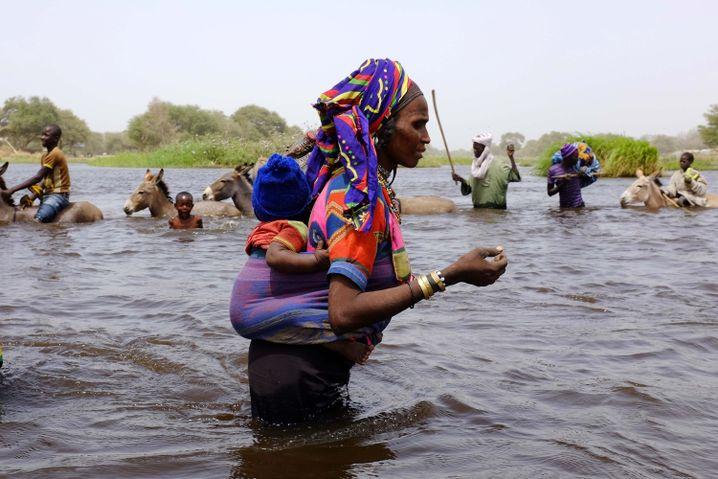 Eine Fulani auf der Flucht vor Boko Haram