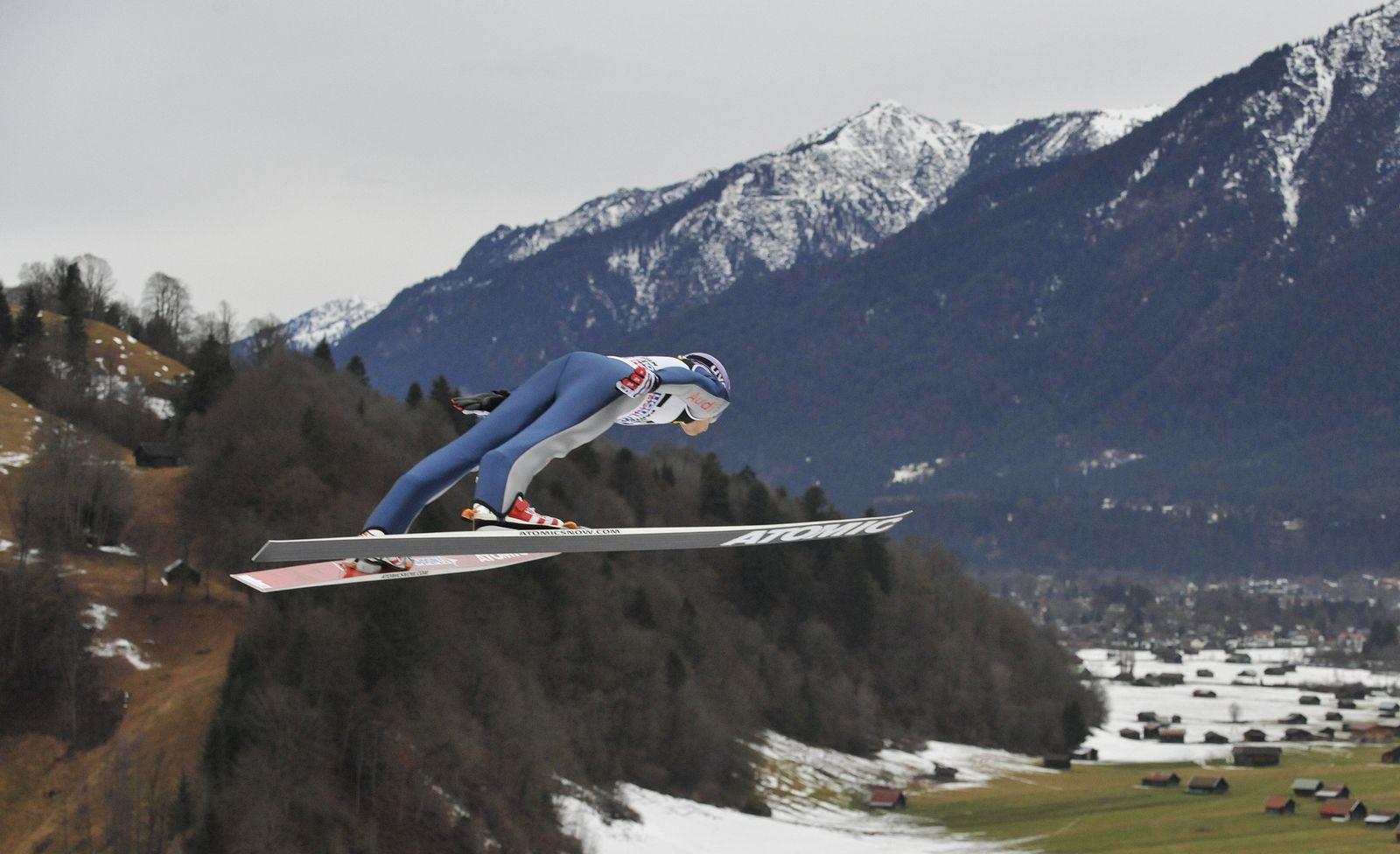 Schmitt springt in Garmisch