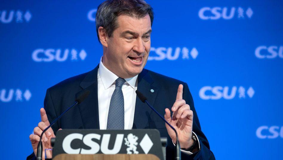 """Markus Söder (CSU): """"Man geht nicht ins Internet, sondern man ist immer drin."""""""