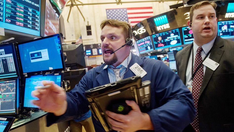 Börsenhändler in New York (Archivbild)