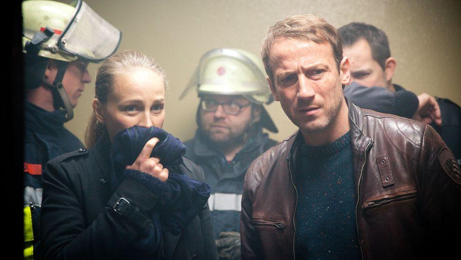 "Szene aus der ""Tatort""-Folge ""Verbrannt"""