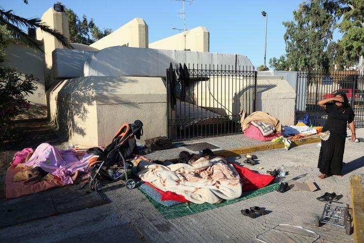 "Obdachlose in Athen (Juni 2012): ""Grexit"" würde Armut zu Katastrophe machen"