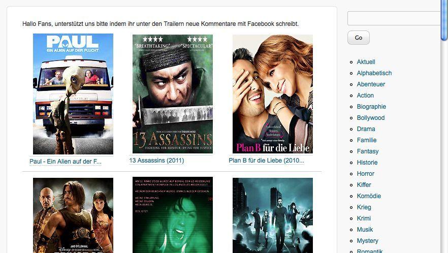 Screenshot neu.to: Scheinbares Konkurrenzportal von kino.to