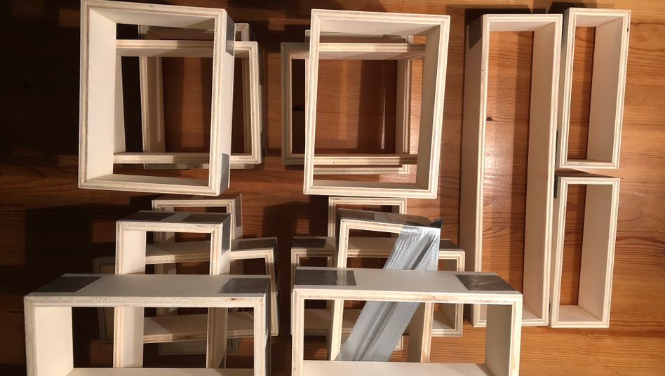 Kisten in der Trockungsphase: Selbst ist der Heimwerker