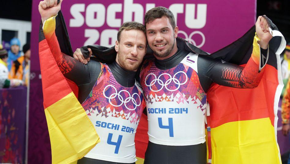 Rodler Wendl und Arlt: Weitere Medaille im Eiskanal