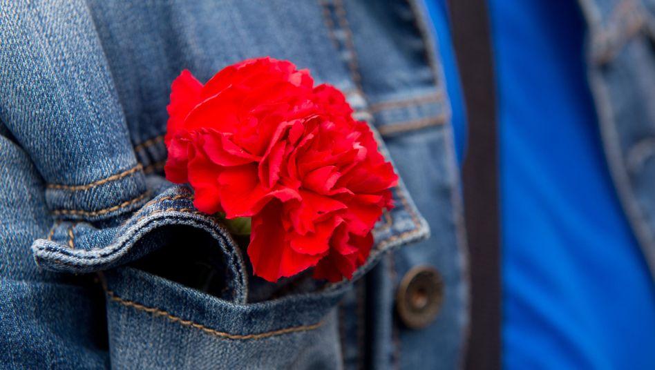 Rote Nelke als Symbol der Arbeiterbewegung: Die Pandemie hat enorme wirtschaftliche Folgen