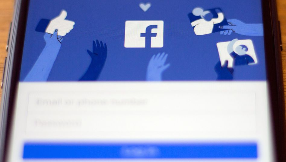 Facebook-Log-in-Fenster auf einem Smartphone-Screen