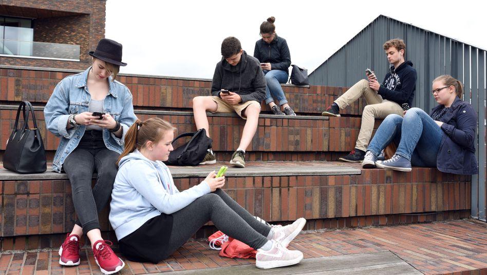 Schüler des Gymnasiums Bondenwald in Hamburg