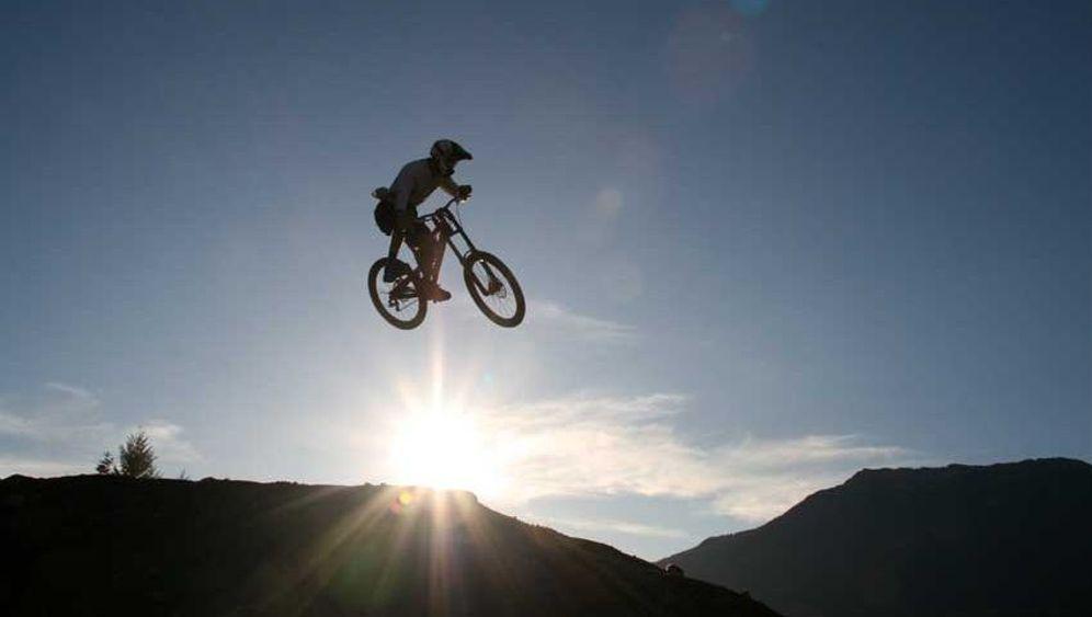 """Downhill-Biking: """"Hoch rein, flach raus"""""""