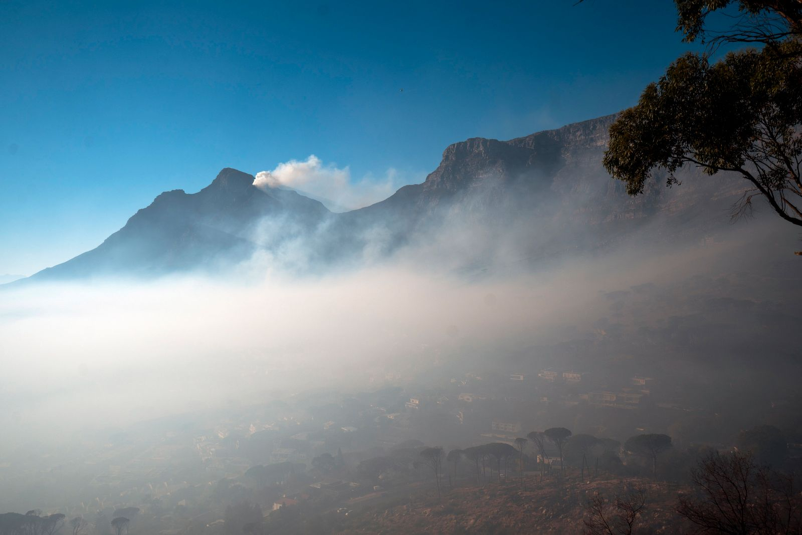 South Africa Cape Town Fire