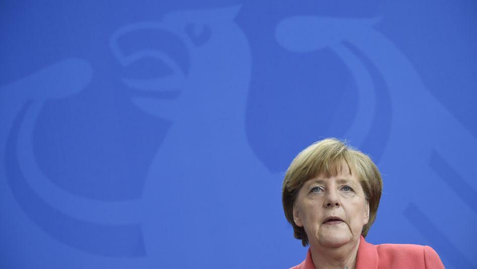 """Kanzlerin Merkel: """"Griechische Bevölkerung will selbst ein Urteil"""