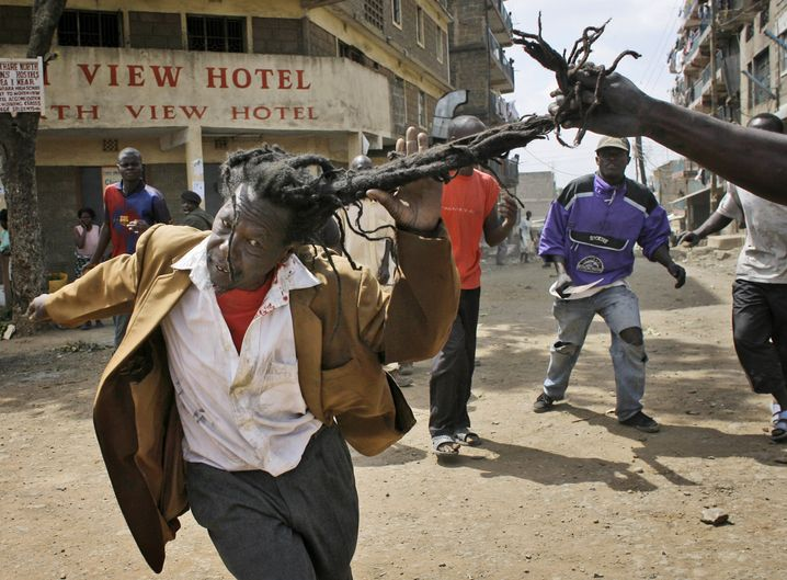Post-election violence im Februar 2008, es starben mehr als 1000 Menschen