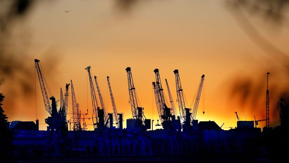 Hamburger Hafen: Deutschlands Exporte laufen gut