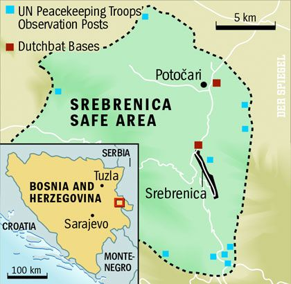 "Map: ""Srebrenica Safe Area"""