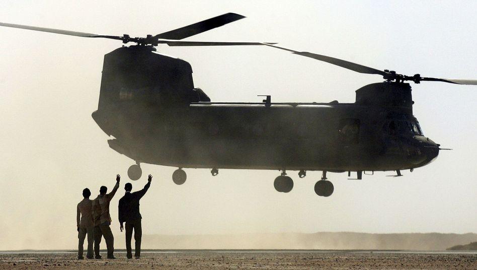 US-Helikopter im Irak: Abzug trotz prekärer Sicherheitslage