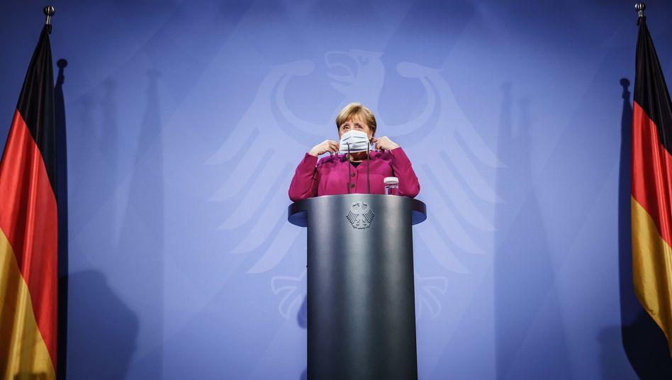 Kanzlerin Merkel nach dem EU-Videogipfel: Skepsis gegenüber Exportverboten