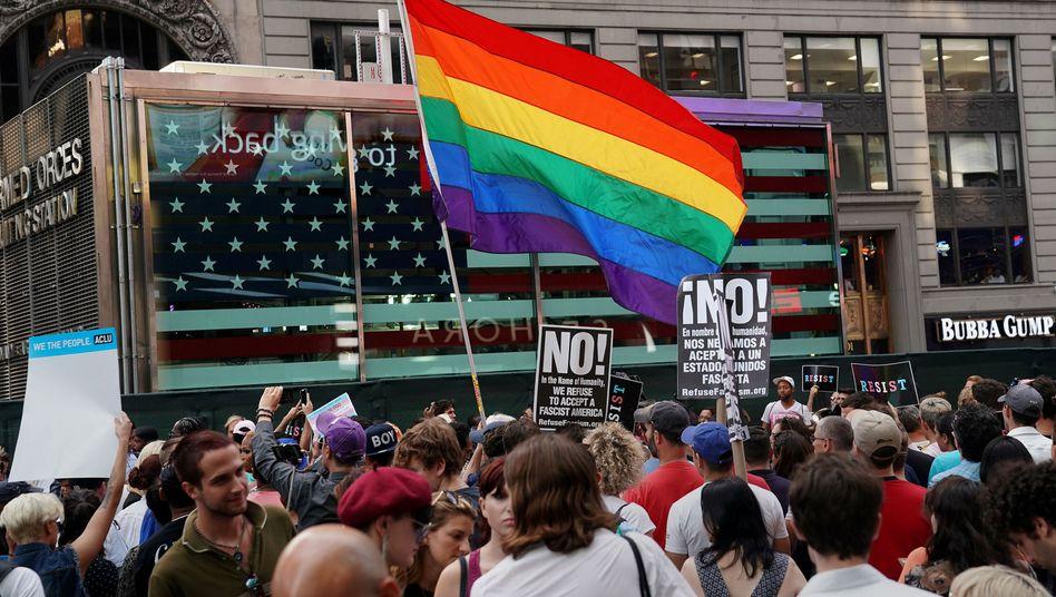 Proteste gegen Donald Trump in New York (Archivbild von Juli 2017)
