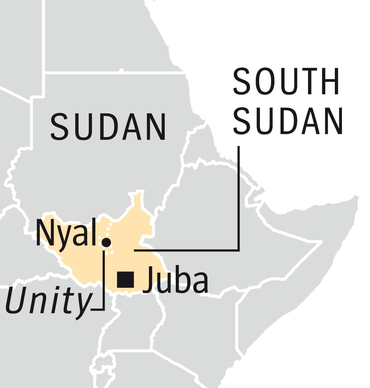 Englische Version --- DER SPIEGEL 25/2017, Seite 89 Map Sudan