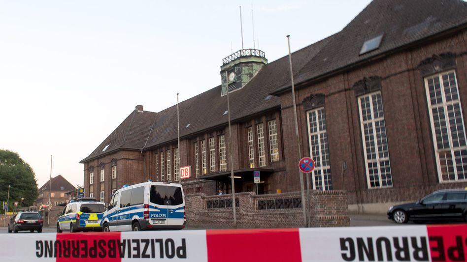 Absperrung am Flensburger Bahnhof