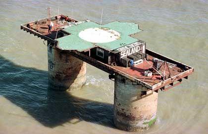"""""""Fürstentum"""" Sealand: 550 Quadratmeter Stahl im Atlantik"""