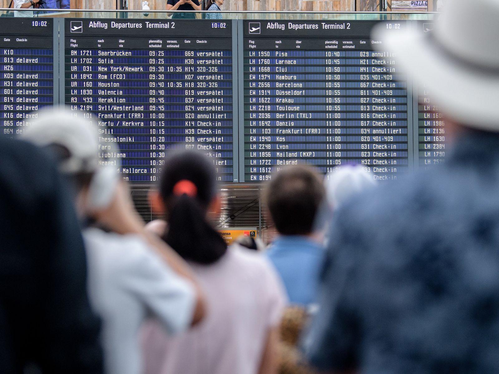 Terminal 2 am Flughafen München gesperrt