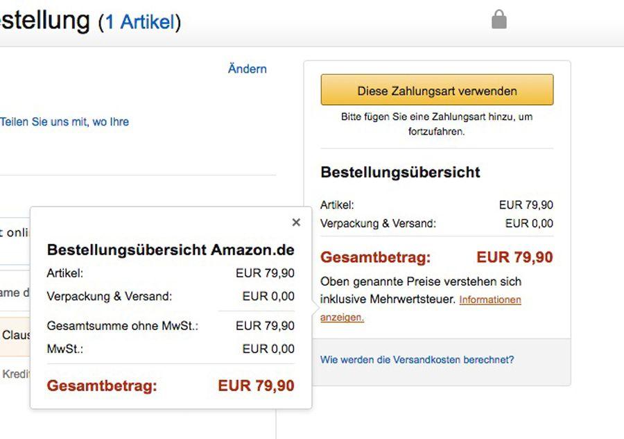 EINMALIGE VERWENDUNG Mailaustausch mit Amazon / Screenshot