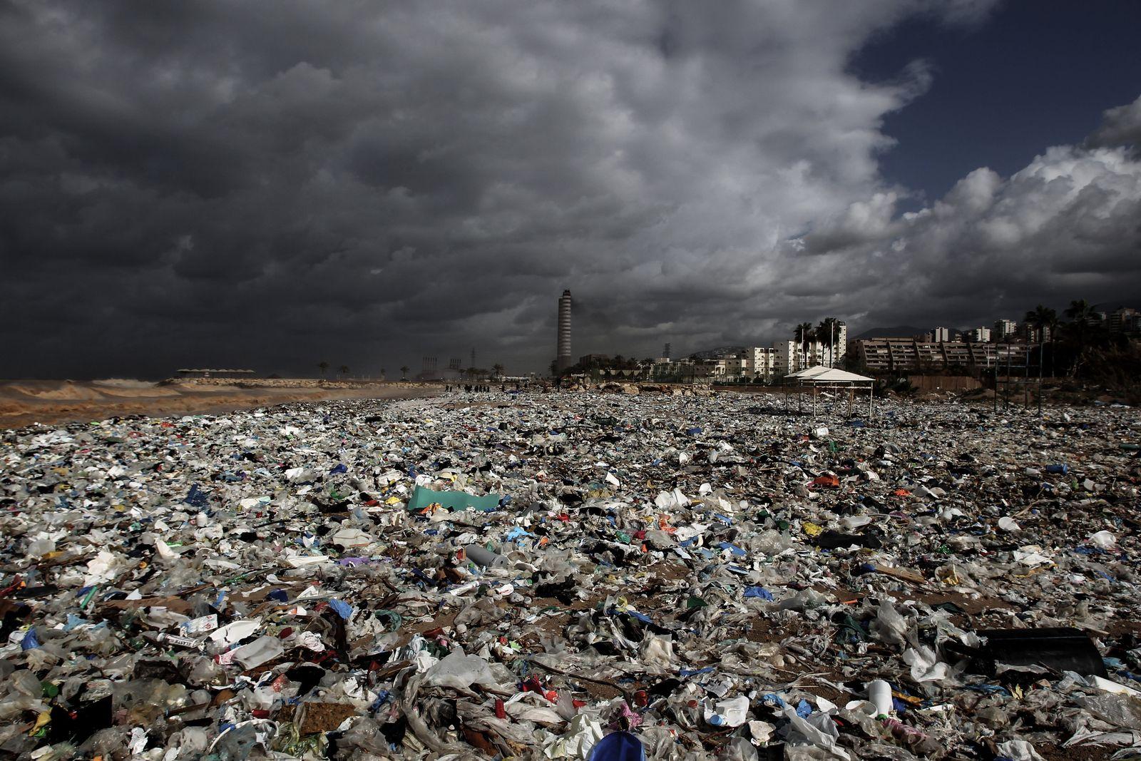 Müllberge im Libanon