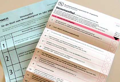 Sozialwahl 2005: Wen wählt man denn da?
