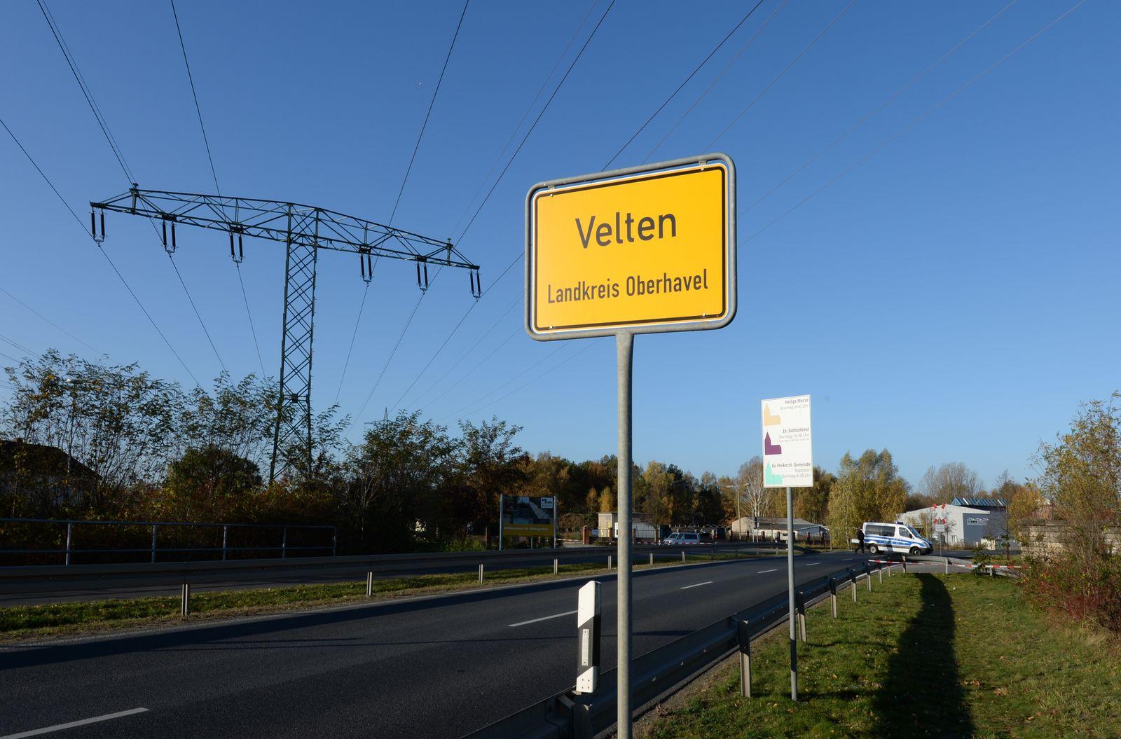 Bombenfund in Velten