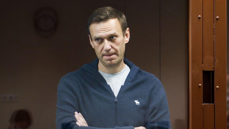 Alexej Nawalny am Freitag vor Gericht