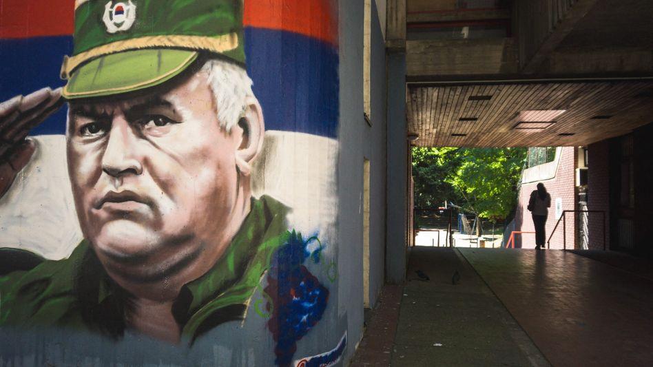 Mladić-Wandbild in Belgrad: Er hat noch immer Freunde und Verehrer