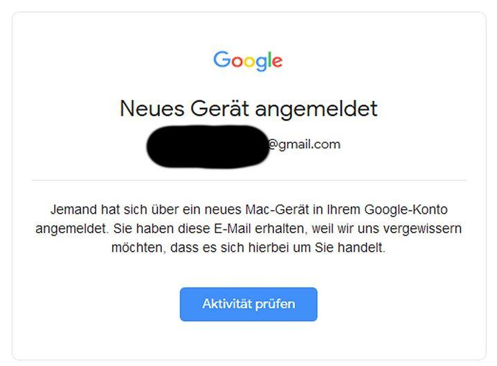 Google-Warnung