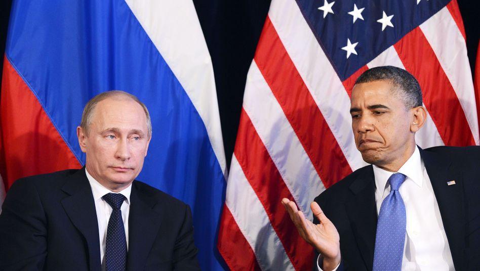 Präsidenten Putin, Obama (Archivbild): Das Verhältnis ist angespannt