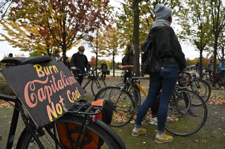 Fridays-for-Future-Demonstration am 16. Oktober vor dem Kanzleramt in Berlin
