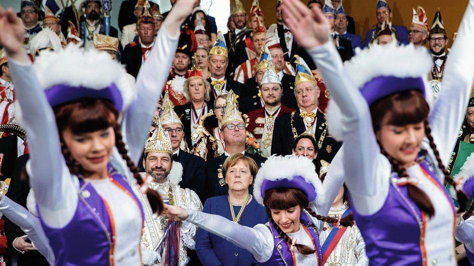 Selleriegarde der Knoblauchsländer Karnevalsgesellschaft, Kanzlerin Merkel 2019:Nach drei Bier hält sich kaum noch einer an die Regeln