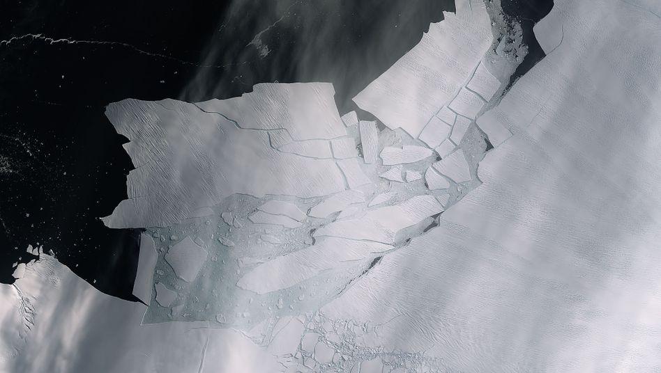 Satellitenaufnahme des Pine-Island-Gletschers: Beschleunigter Zerfall